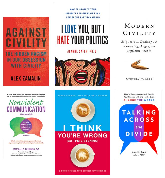 Graphic image of six book covers