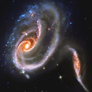 An image of a galaxy taken by the Hubble Space Telescope