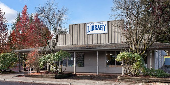 Exterior view of Lake Stevens Library