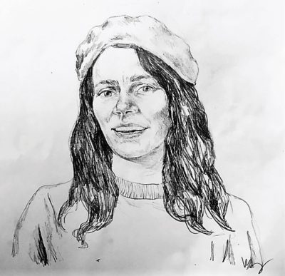 drawing of Nicole Lavelle by Vanessa Waring