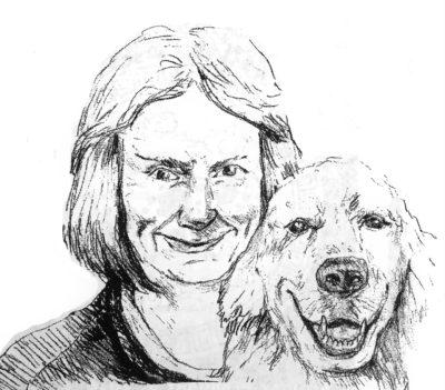 drawing of Carol Harmon by Vanessa Waring