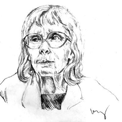 drawing of Diana McQuaid by Vanessa Waring
