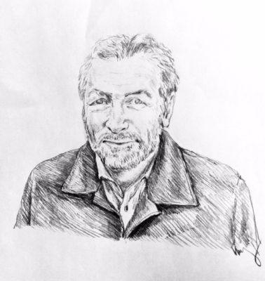 drawing of Eric Karpeles by Vanessa Waring