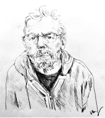 drawing of Jon Brunner by Vanessa Waring