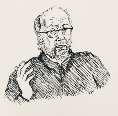 drawing of Lawrence DiStasi by Vanessa Waring