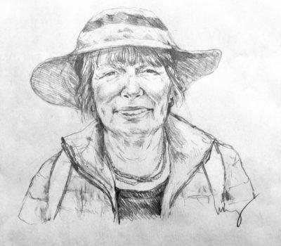 drawing of Linda Samuels by Vanessa Waring