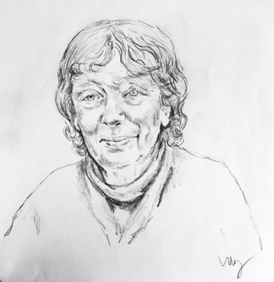drawing of Mimi Calpestri by Vanessa Waring
