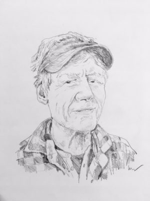 drawing of Ned Riley by Vanessa Waring