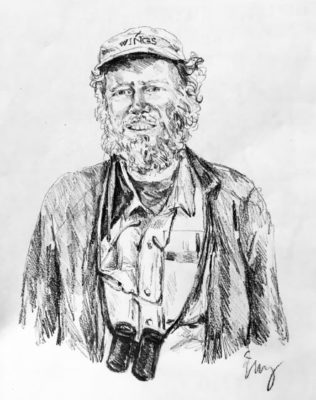 drawing of Steve Howell by Vanessa Waring