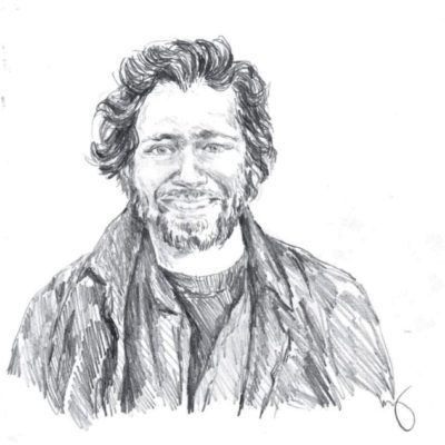 drawing of Taliesin Gilkes-Bower by Vanessa Waring