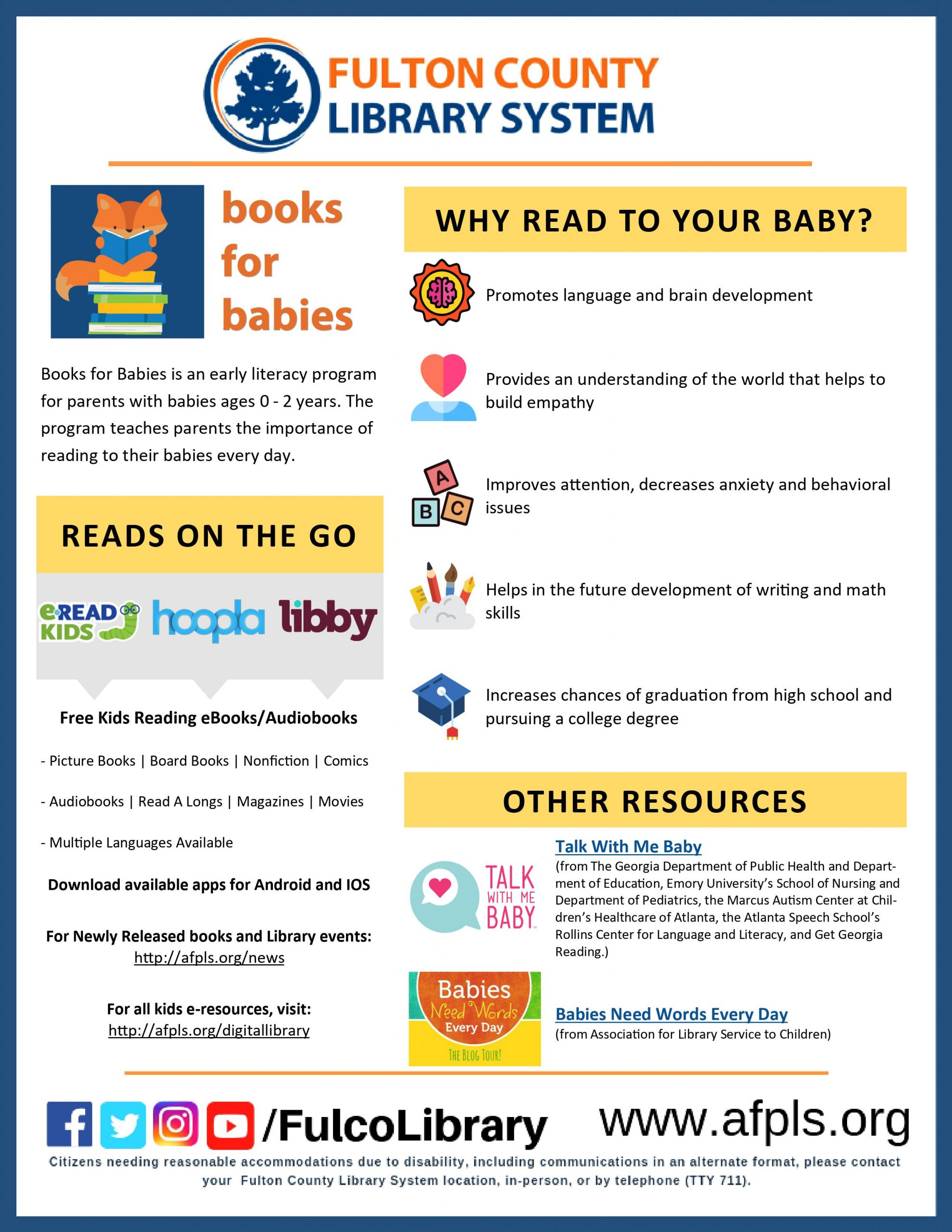 Books for Babies Flyer Image