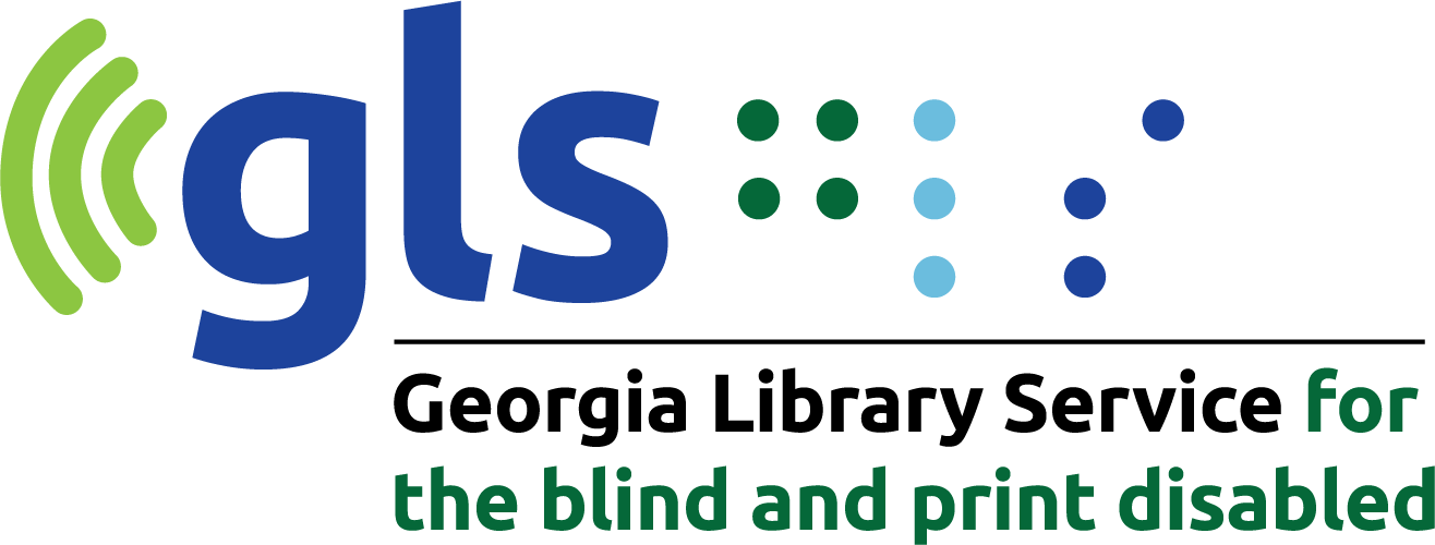 GLS Georgia Library service for the blind and print diasabled new logo; explore here for information of blind and visual impaired services