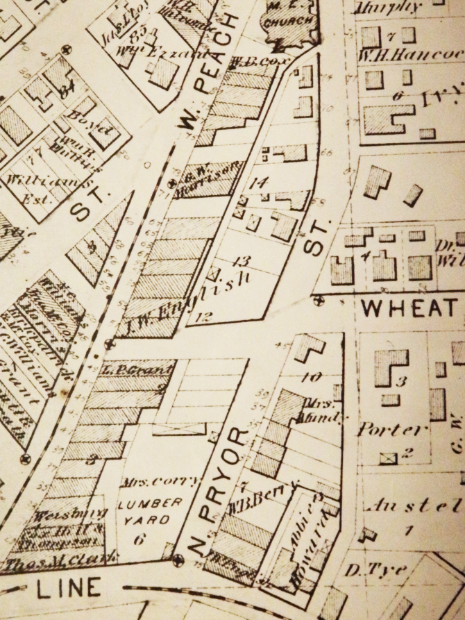CENTRAL - GA HISTORY 1878 Hopkins Plate. 2