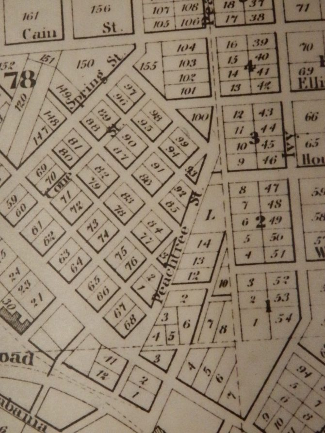 CENTRAL - GA HISTORY 1853 Vincent Map