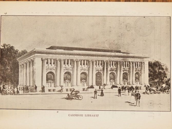 Drawing of the Atlanta Carnegie Library