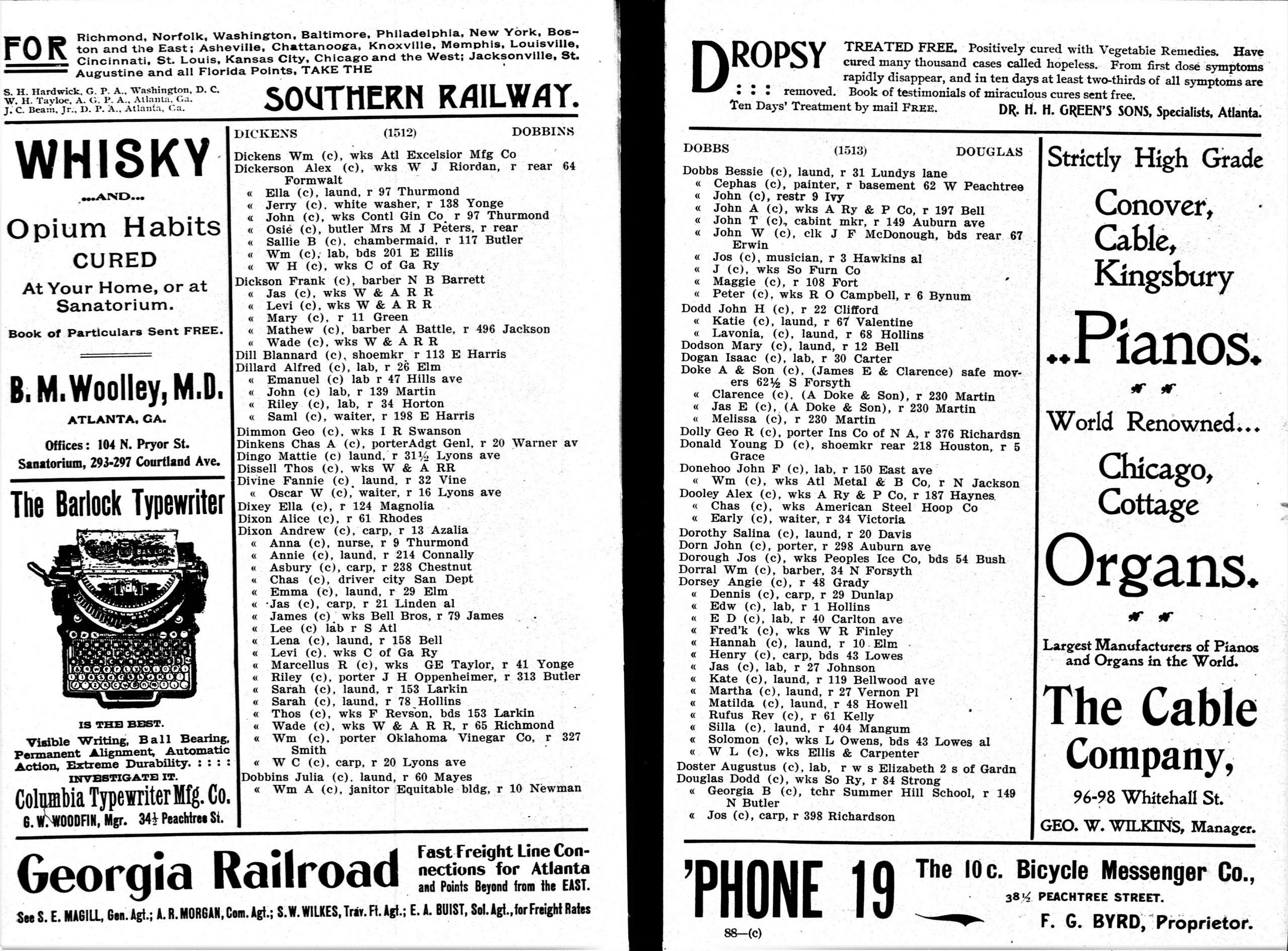 CENTRAL - CITY DIRECTORIES Atlanta City Directory, 1902 (2)