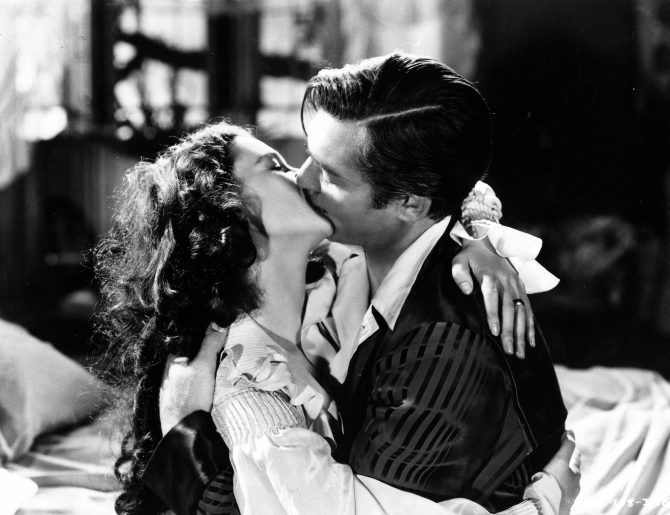 CENTRAL - MARGARET MITCHELL GWTW still - Scarlett and Rhett