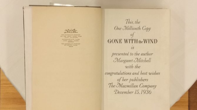 CENTRAL - MARGARET MITCHELL - 1 Millionth Copy