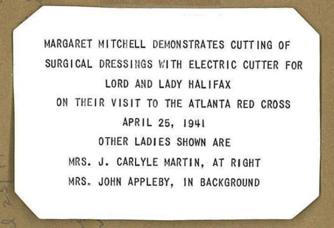 CENTRAL - MARGARET MITCHELL red cross back-page