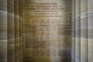 Names of Americans missing in action during World War I