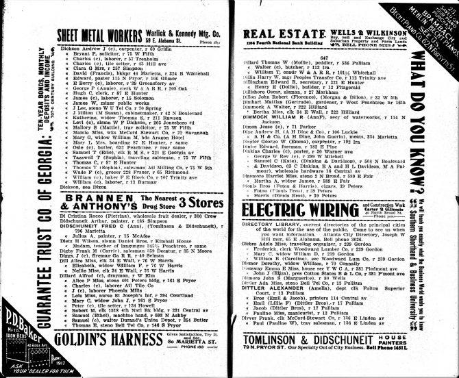 CENTRAL - CITY DIRECTORIES Atlanta City Directory, 1906 (2)