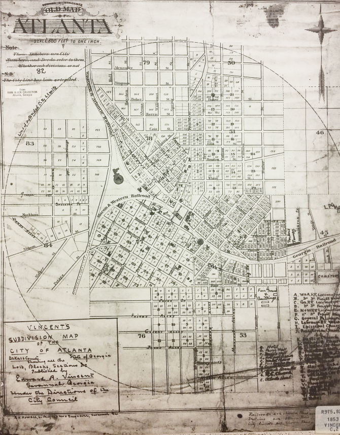 CENTRAL - GA HISTORY Vincent's Map