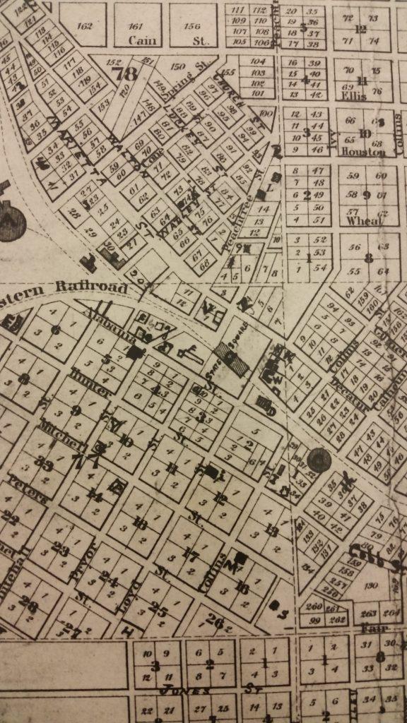 CENTRAL - GA HISTORY Vincent's Map - 2