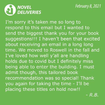 Novel Deliveries Testimonial