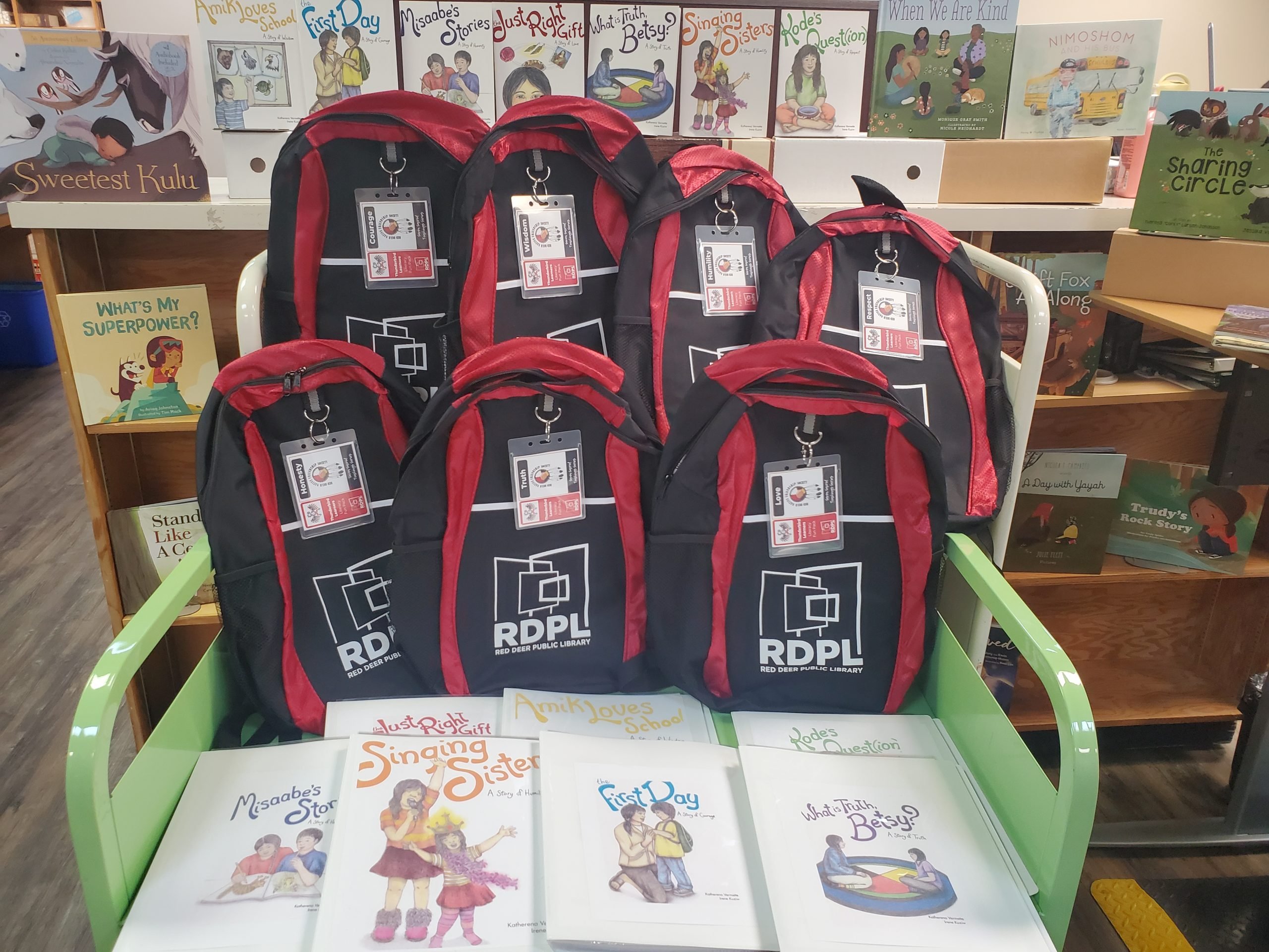 photo of the thunderbird learners backpacks